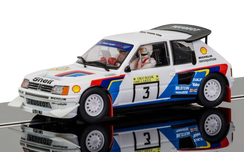 Scalextric: la Peugeot 205T16 rallye des 1000 Lacs 85