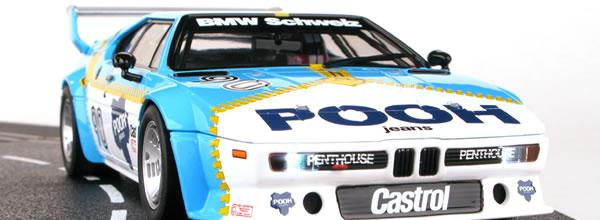 Carrera: Deux BMW M1 championnat Procar à l'échelle 1/24