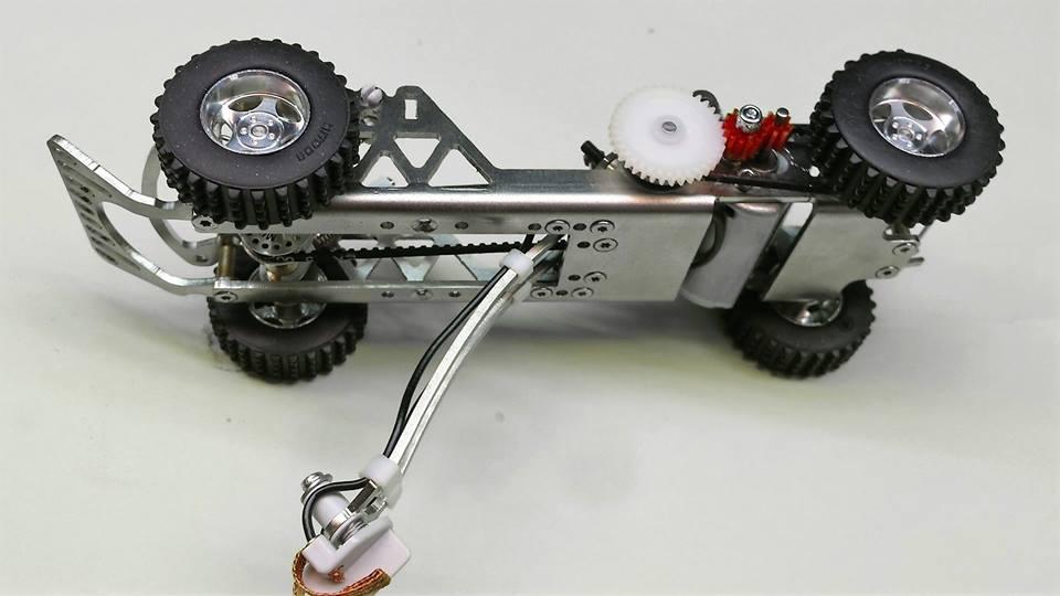 Mitoos: le châssis Twister Mitoos 100mm en aluminium