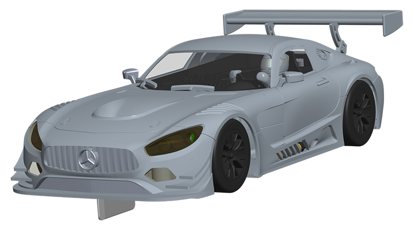 Scalextric | Mercedes AMG GT3 CAD Rendering