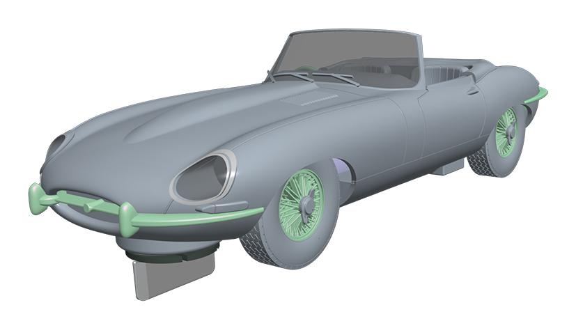 Scalextric - Jaguar E-Type