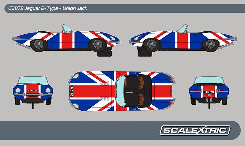 Scalextric - Jaguar E-Type Union Jack