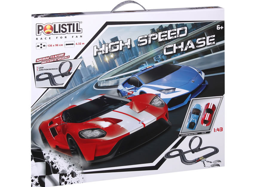 1/43 super Challenger Set 10m (Double Loop & Lane Change)