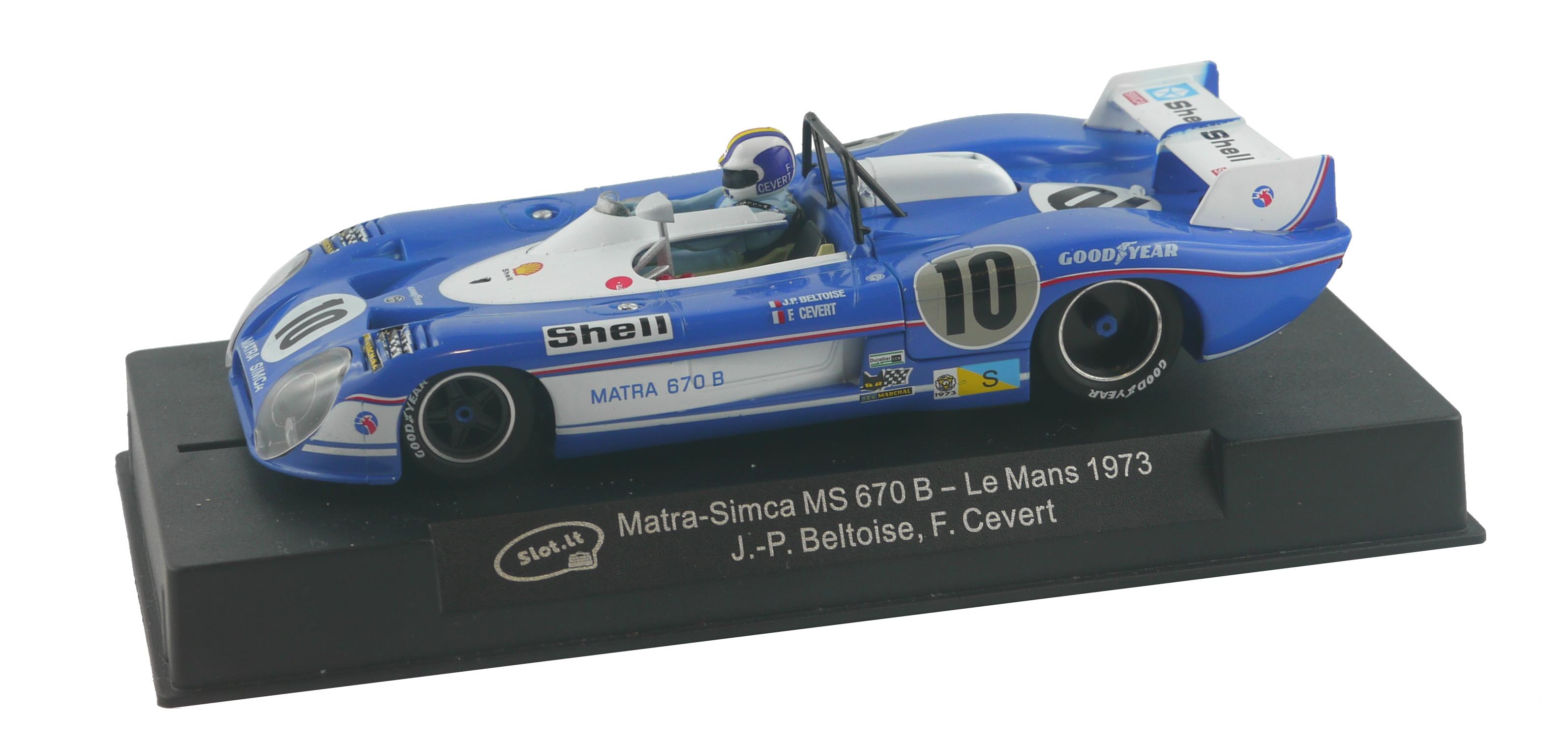 Slot it: La Matra-Simca MS 670 B - n° 10 Le Mans 1973