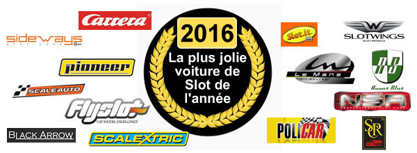 L'Élection de la plus jolie voiture de slot racing de 2016