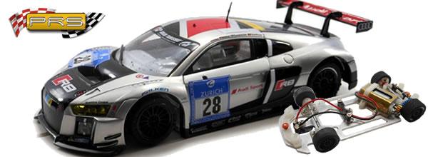 PRS: Des Slot Cars au 1/32 équipées de châssis alu et impression 3D
