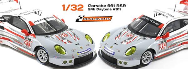 Scaleauto: Les Porsche 911 GT3 RSR 24h Rolex Daytona 2014