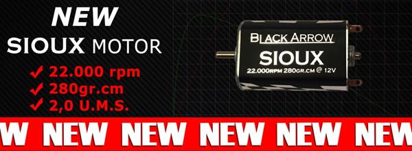 Black Arrow: Sioux un moteur de 22 000 RPM pour voitures de slot