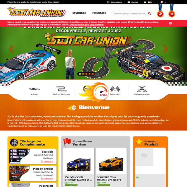 Slot Car Union: Un nouveau site Internet pour la boutique de slot racing