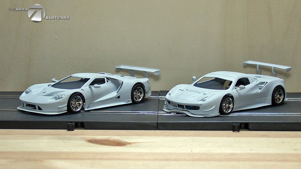 the area71 slotcars une ferrari 488 gte et la ford gt lm slot cars passion. Black Bedroom Furniture Sets. Home Design Ideas