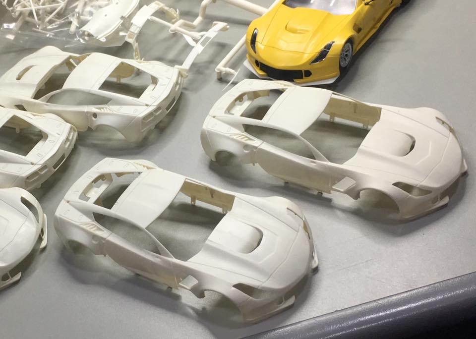Scaleauto: Les photos des carrosseries du premier sample de la C7R