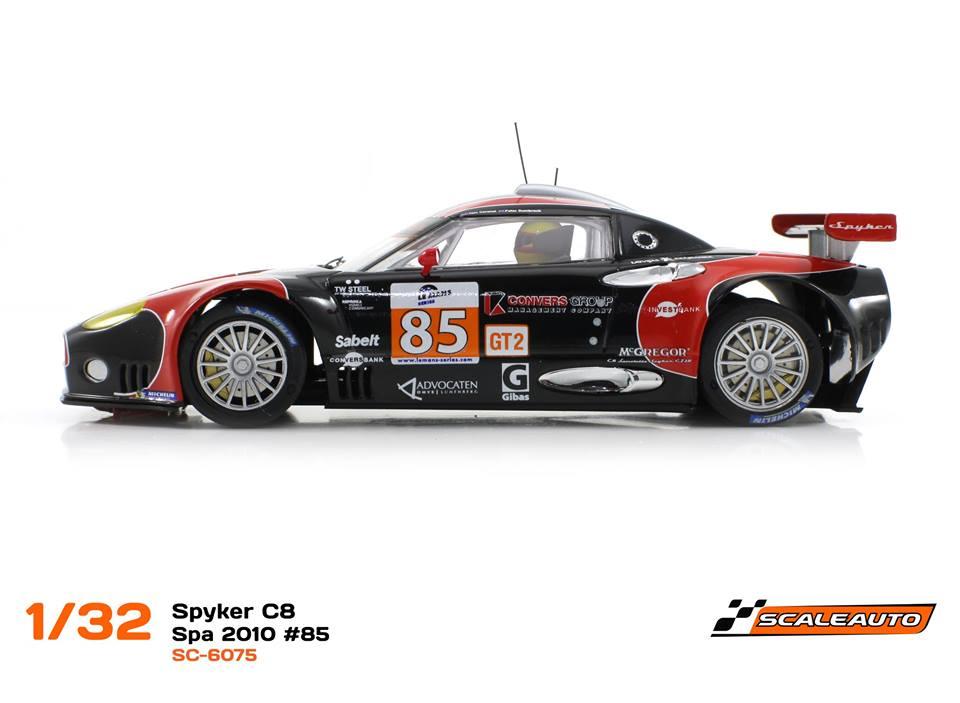 Scaleauto: la Spyker C8 Laviolette 24h de Spa 2010