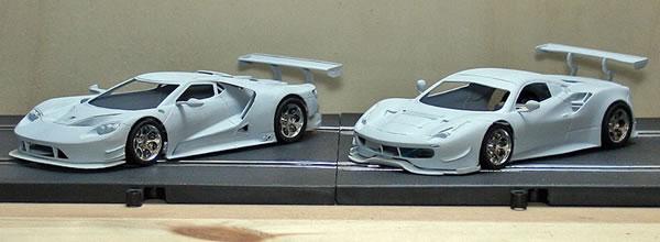 The Area71 Slotcars: Une Ferrari 488 GTE et la Ford GT LM