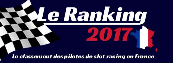 Le Ranking 2017: Le classement des pilotes de slot racing en France
