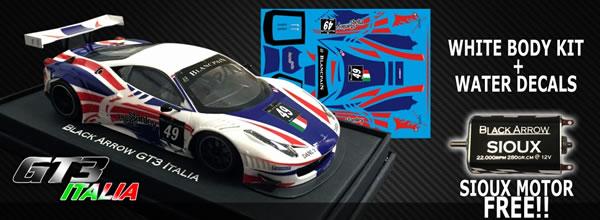 Black Arrow: Le kit carrosserie Gt3 Italia Stanley