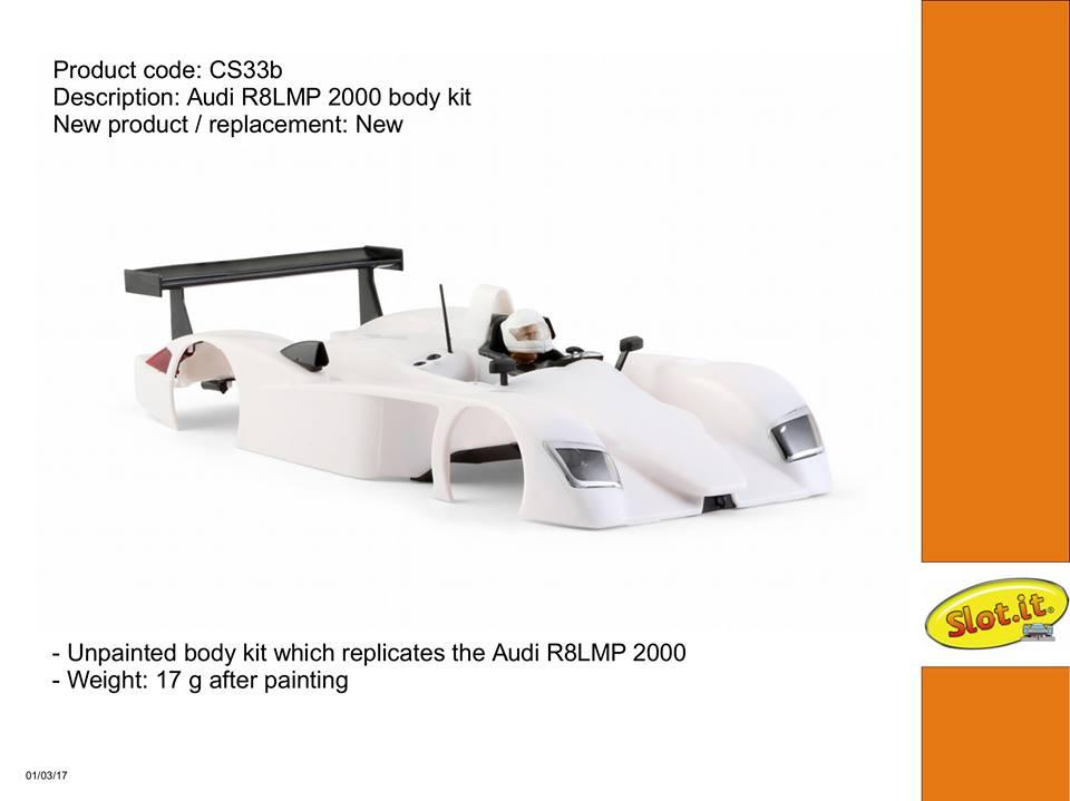 Kit carrosserie cs33b R8 PMT 2000