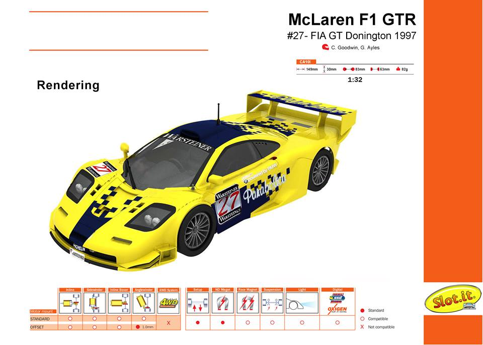 McLaren F1GTR - #27 - FIA GT Donington 1997 - CA10l