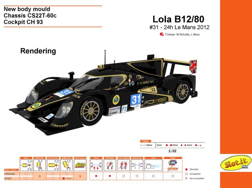 Lola B12/80-Lotus - #31 - 24h Le Mans 2012 - CA39A