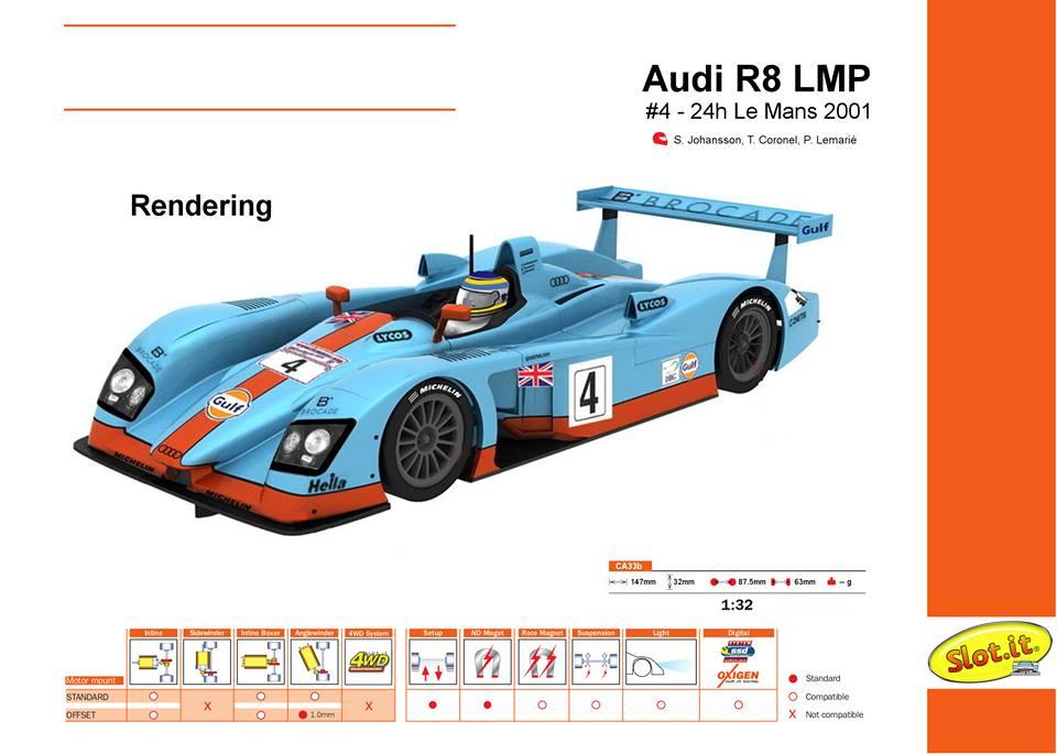 Audi R8 LMP - #4 - 24h Le Mans 2001 - CA33b