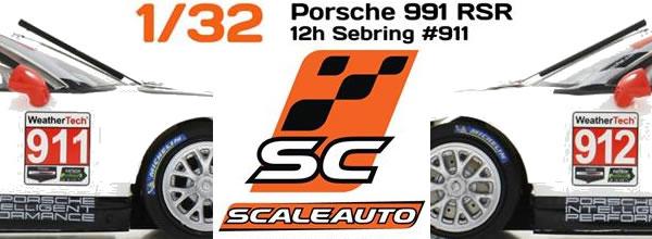 Scaleauto Les Porsche 911 GT3 RSR North America 12h de Sebring 2016