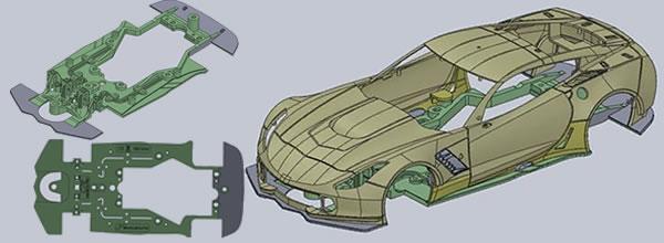 Scaleauto: Des châssis In-flex pour les prochaines slot cars