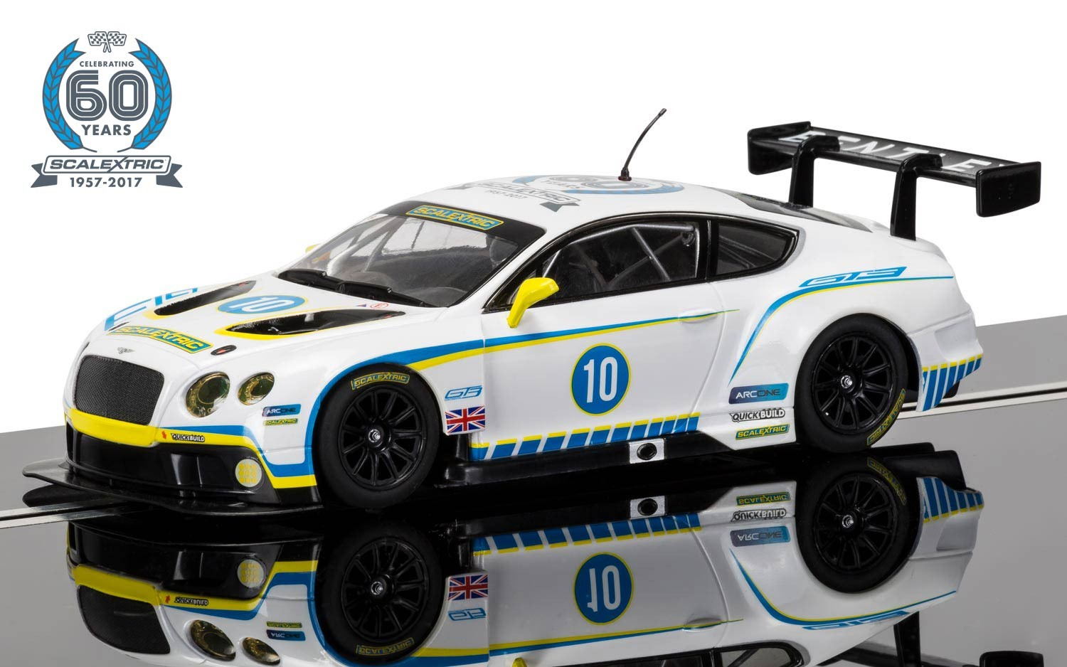 Scalextric 60th Anniversary Collection - 2010s, Bentley Continental GT3 Limited Edition C3831A