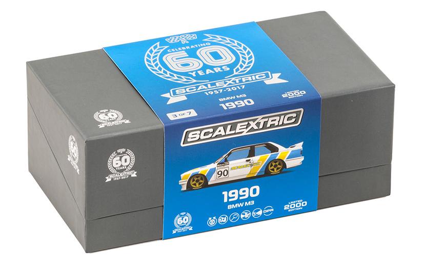 Scalextric: la BMW M3 E30 pour la collection 60e anniversaire