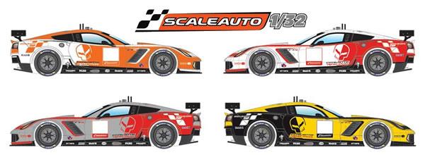 Scaleauto dévoile les livrées de sa Corvette C7R à l'échelle 1/32