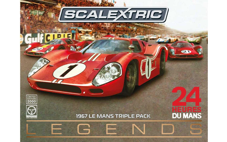 Scalextric: le coffret Le Mans Legends Triple Pack 1967