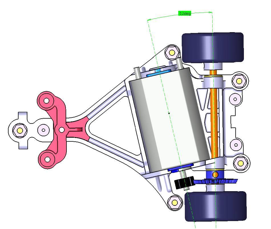 Scaleauto: Un nouveau support moteur AW pour slot car 1/32 à l'étude