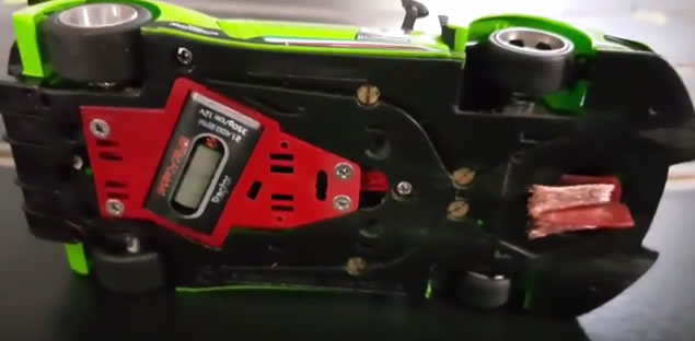 Sideways La Lamborghini Huracan GT3 le chassis