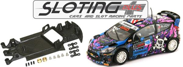 Sloting Plus: Des châssis en impression 3d pour la Ford Fiesta WRC et la DS3 WRC SCX