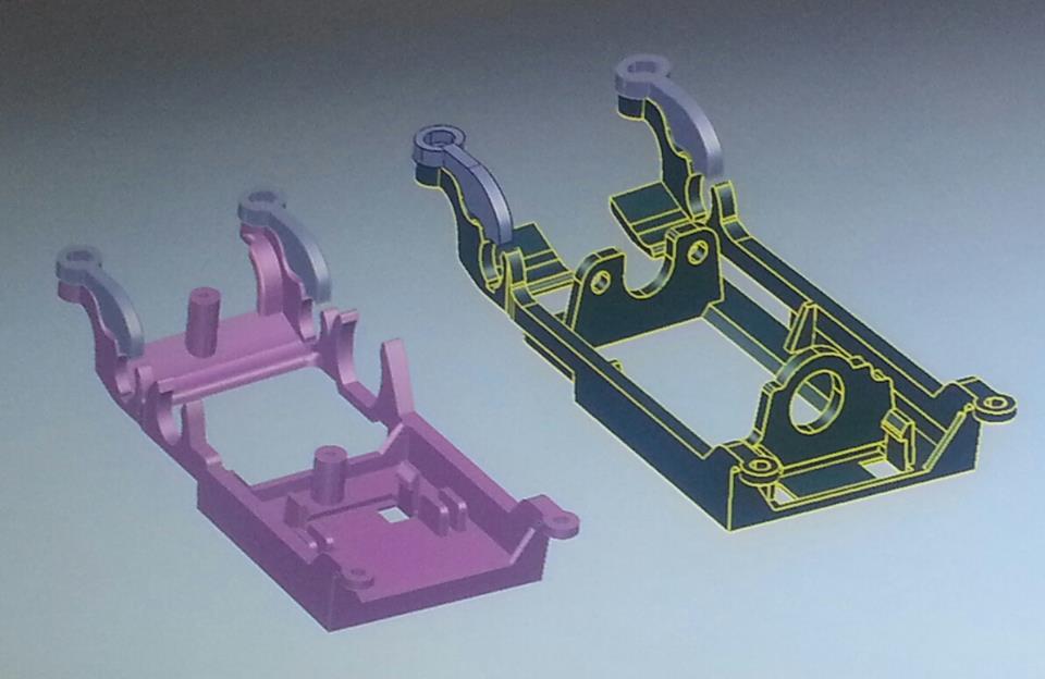 Slot Racing Company: Un support pour rigidifier l'axe arrière des Ford Capri