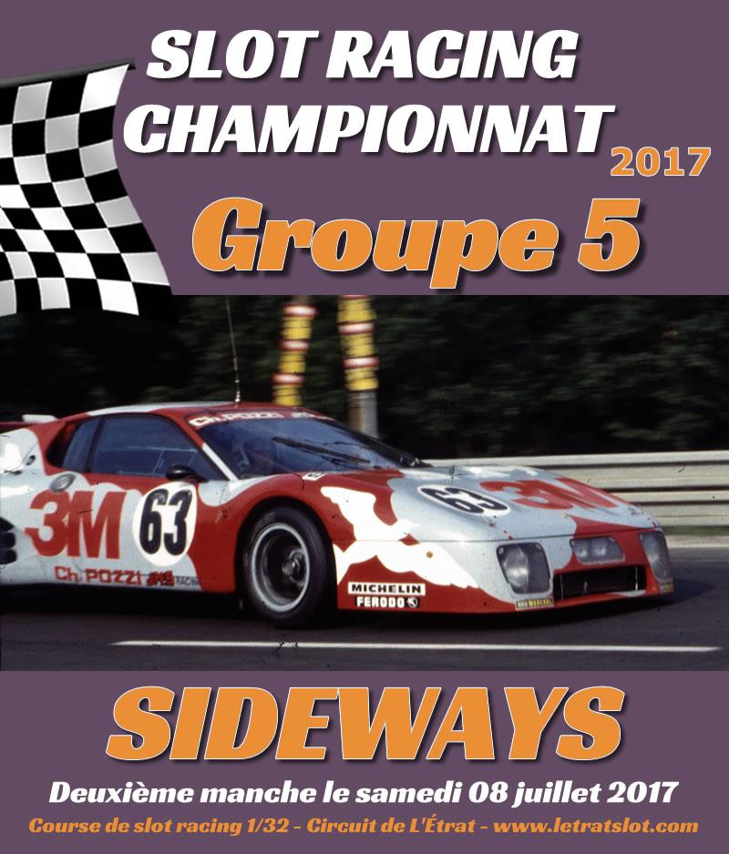 Course de championnat Groupe 5 Sideways à L'Étrat le 08/07/2017
