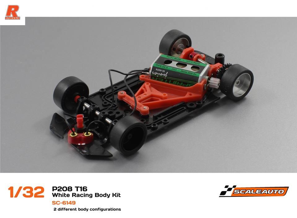 Scaleauto: Le chassis de la Peugeot 208 T16 1/32