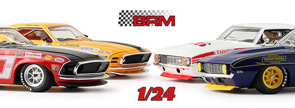BRM & Scaleracing: Ford Mustang et Chevrolet Camaro à l'échelle 1/24