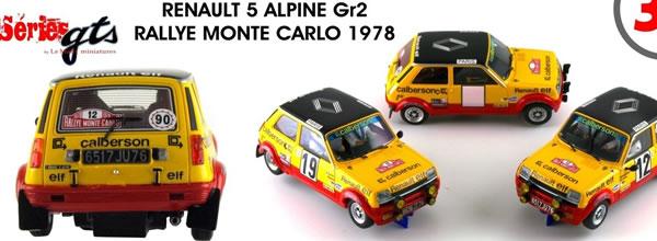 Le Mans miniatures: la Renault 5 Alpine Gr.2 Elf Calberson #19 Monte Carlo 78