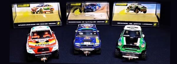 Mitoos: Trois Slot Cars complètes équipées du châssis Mitsu 90mm
