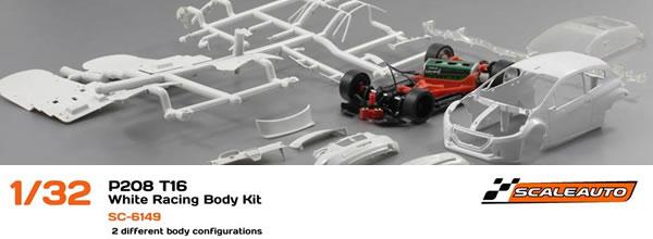 Scaleauto: La Peugeot 208 Kit de course T16 blanc SC-6149