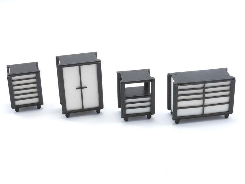 Le kit de 4 servantes pour décorer vos stands - TA001W