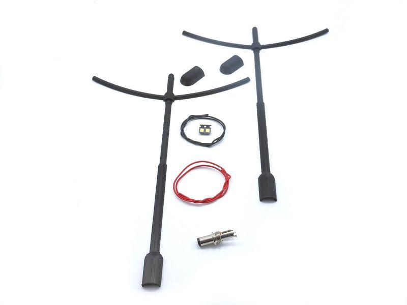 Le kit lampadaire double NOIR - TA014B
