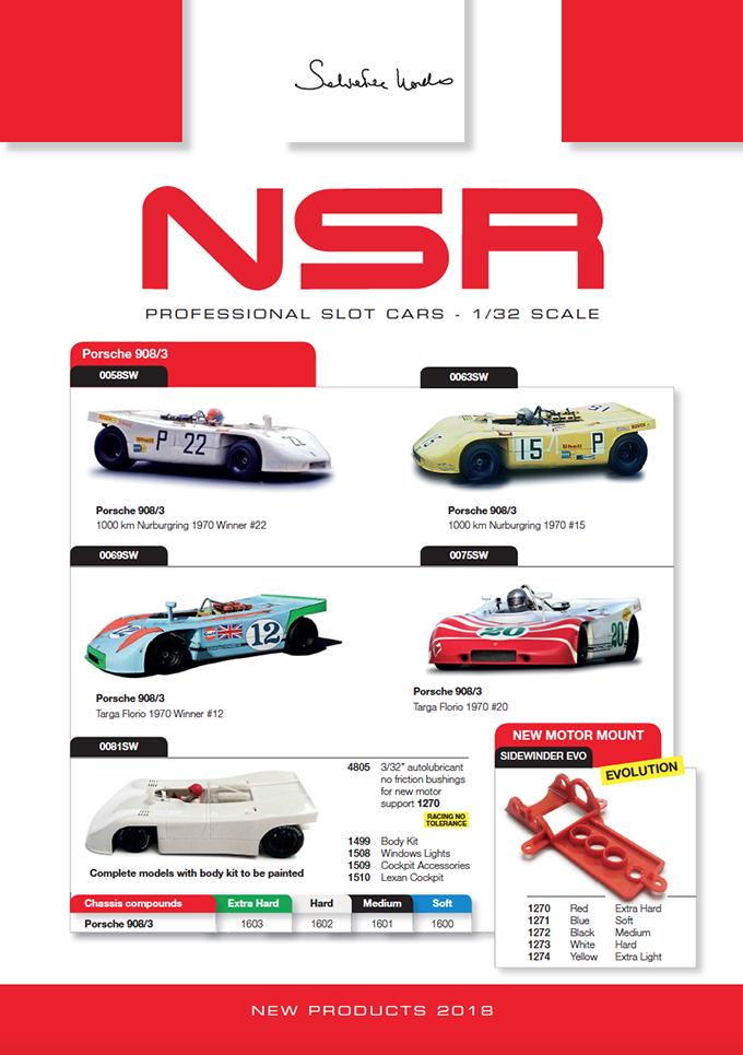 NSR Slot: les livrées de 2018 et une nouvelle GT3