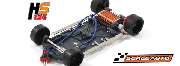 Scaleauto: Nouveaux châssis pour les GT de la marque à l'échelle 1/24