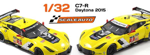 Scaleauto : les Corvette C7r Gt3 des 24 h. Daytona 2015 (SC-6160 R Et SC-6161 r)