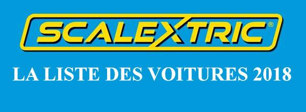 Scalextric: la liste des sorties slot cars de l'année 2018