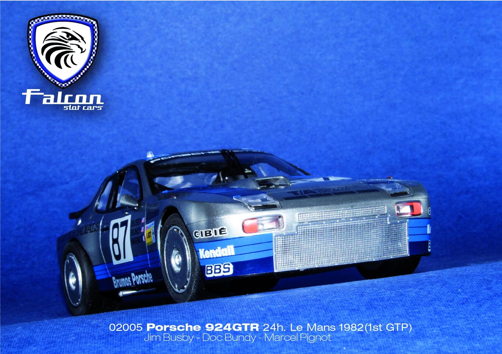 Falcon Slot Cars: Porsche 924 GTR Le Mans 1982. (1st GTP)