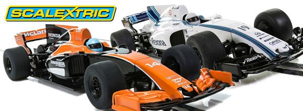 Scalextric: Deux slot cars F1 super résistantes 1/32