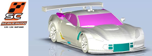Scaleauto: Une Corvette C7R 1/24 en préparation pour le slot racing