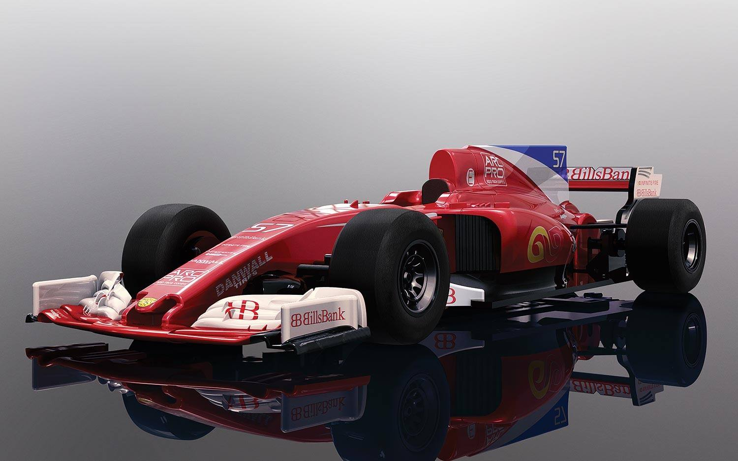 RED STALLION F1 CAR