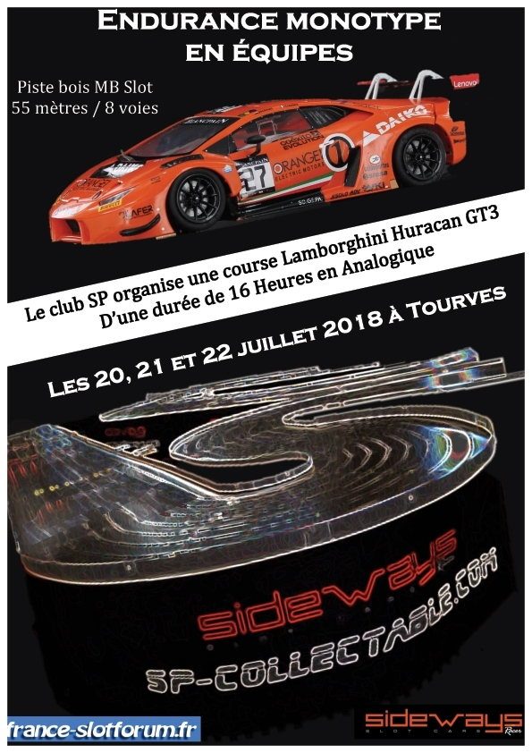 SP Collectable: Lance les 16h Sideways LamboH en Juillet